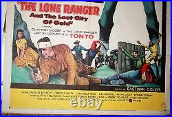 The lone Ranger and the Lost City of Gold one sheet vintage movie poster 1958