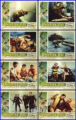 UNDERSEA GIRL/SCUBA DIVING orig 1957 lobby card movie posters set MARA CORDAY