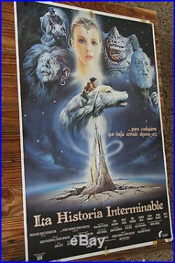 Used Cartel de Cine LA HISTORIA INTERMINABLE Vintage Movie Film Poster Usado