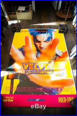VELVET GOLDMINE 4x6 ft Bus Shelter Vintage Movie Poster Original 1998