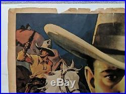 VINTAGE BUCK JONES COWBOY SILVER SPURS WESTERN RARE MOVIE POSTER 1970s