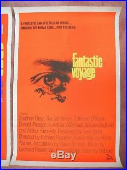 VINTAGE FANTASTIC VOYAGE MOVIE ORIGINAL 1966 POSTER ONE SHEET 27 x 41