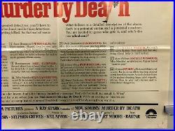 VINTAGE MOVIE POSTER 1976 Murder By Death One Sheet 27X41 Original White Variant