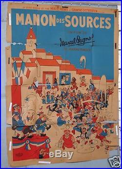 VINTAGE MOVIE POSTER PAGNOL MANON DES SOURCES circa 1952-1965