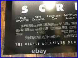 VINTAGE MOVIE POSTER Scream Original One Sheet 1996 Courteney Cox Rolled s/s