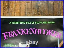 VINTAGE POSTER Frankenhooker 1990 One Sheet Shapiro Glickenhaus Ent. Rolled