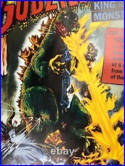 VINTAGE POSTER Godzilla Copyright 1956 USA 56/214 RARE Horror Sci Fi Iconic
