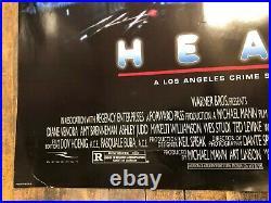 VINTAGE POSTER Heat Original One Sheet Double Sided Al Pacino 1995 Warner Bros