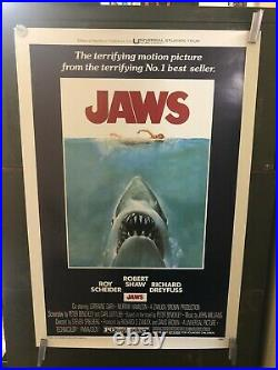 VINTAGE POSTER Jaws Poster Horror Richard Dreyfuss S/S Iconic