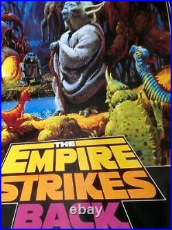 VINTAGE POSTER The Empire Strikes Back Retro Yoda 1997 Radio Trippy Sci Fi