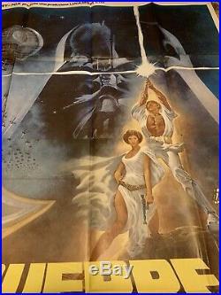 VINTAGE STAR WARS 1977 55x78 original Italian film poster George Lucas 2 Sheet