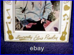 VINTAGE Sincerely ELVIS PRESLEY Signed PHOTO FRAME Love Me Tender PICTURE Poster