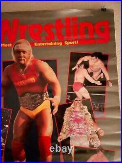 VINTAGE WWF Original Coliseum Movie Poster Rolled 27x40 Hulk Hogan Ventura RARE