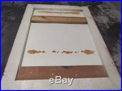 VINTAGE Wood Movie Theatre Poster Marquee Display GLASS FROM DISNEY ORLANDO