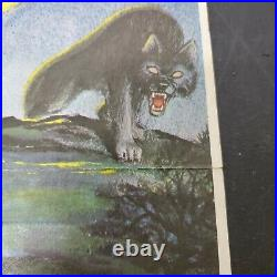 VTG 1975 The Wolfman Glow In The Dark Poster Universal City Studios Post Cereal