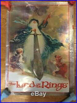 VTG 1978 Lord of the Rings Original Fantasy Non-film Poster By J. R. R Tolkien