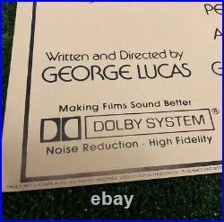VTG 70s Star Wars Movie Promo Poster Rare Vintage Original 1977 Made In Usa