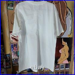 VTG American Psycho White Shirt sz Large Horror Thriller Movie Promo Poster 2005