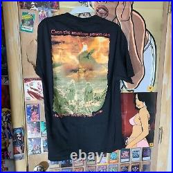 VTG Lord Of The Rings Return of King Shall sz L T-Shirt Movie Promo Poster 2003