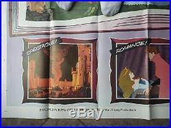 VTG Orig. Sleeping Beauty Disney 6 Sheet Movie Poster (77x77) #R70/124 R1970