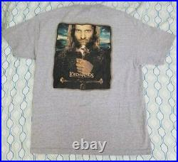 VTG The Lord of the Rings The Return of the King Movie T Shirt Poster Large
