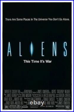Very Rare Vintage Orig Advance 27x41 ALIENS Movie Poster 1986 Sigourney Weaver