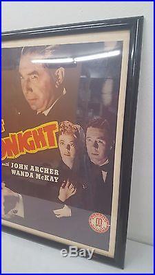 Vintage 1942 Bela Lugosi Bowery at Midnight Movie Poster Original in Frame 28X22