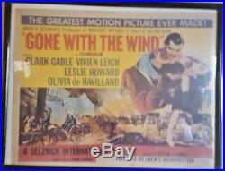 Vintage 1954 Gone With the Wind Movie Poster