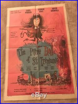 Vintage 1960 Original Movie Poster The Pure Hell Of St. Trinians Uk