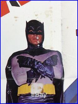 Vintage 1966 The Batman Original Movie Poster Adam West 27 X 41 FOLDED 66/281