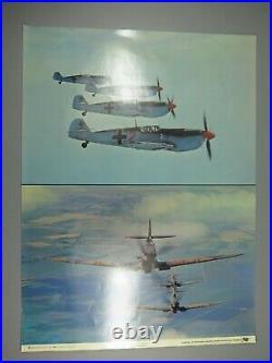 Vintage 1969 Battle Of Britain Film Spitfire Productions Promotional Poster Set