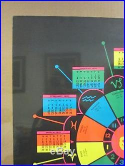 Vintage 1970 Astro Guide original black light zodiac poster 11026