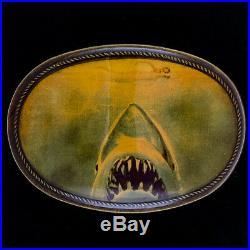 Vintage 1970s Jaws Rare Movie Poster Masterpiece Pacifica Vintage Belt Buckle