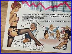Vintage 1970s Soho Cinema WHATS UP SUPERDOC X UK QUAD MOVIE POSTER Saucy
