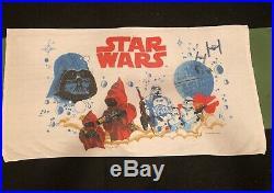 Vintage 1977 Star Wars Beach Towel Storm Troopers Darth Vader Jawas 1978 Movie