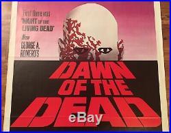 Vintage 1978 DAWN OF THE DEAD 27x41 Original Movie Poster EXCELLENT