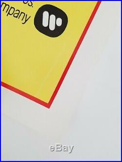 Vintage 1979 ENTER THE DRAGON One Sheet Poster BRUCE LEE JOHN SAXON JIM KELLY