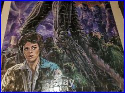 Vintage 1979 HG Alien Movie Jigsaw Puzzle 3ft Giant Poster Size With Box COMPLETE