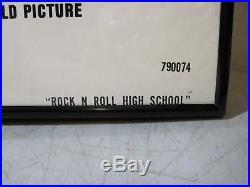 Vintage 1979 Rock N Roll High School Original Movie Poster Framed Ramones