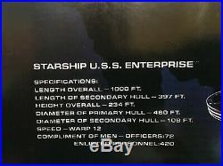 Vintage 1979 STAR TREK Motion Picture USS ENTERPRISE Cutaway POSTER 48x22