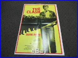 Vintage 1980 Yugoslavia The Clash Rude Boy Movie Poster