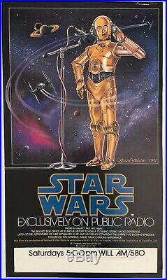 Vintage 1981 Star Wars NPR Radio Show Poster ORIGINAL
