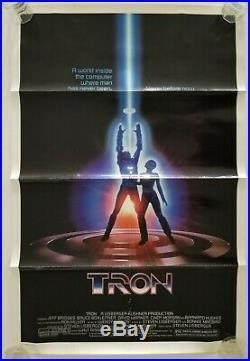 Vintage 1982 Disney's TRON Original One Sheet Movie Poster Bridges SciFi Gamer