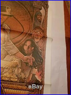 Vintage 1982 RAIDERS OF THE LOST ARK One Sheet Poster HARRISON FORD SPIELBERG