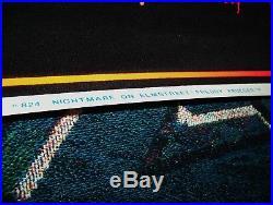 Vintage 1984 FREDDY KRUEGER A NIGHTMARE ON ELM STREET Velvet Black Light Poster