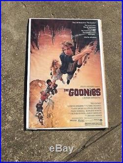 Vintage 1985 Warner Bros The Goonies Movie Promo Poster 27x40 Printed In USA