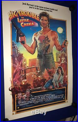 Vintage 1986 Big Trouble In Little China MOVIE POSTER ONE SHEET 1S ROLLED 27x41