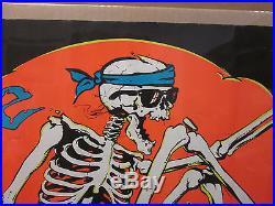 Vintage 1986 Skate and Destroy original blacklight poster 8307