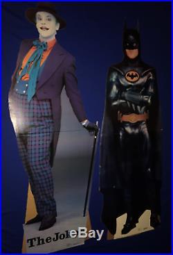 Vintage 1989 Batman Movie FULL SIZE STANDEE Joker M. Keaton J. Nicholson Starmaker