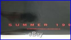 Vintage 1993 JURASSIC PARK Original Unused Advance One Sheet Movie Poster